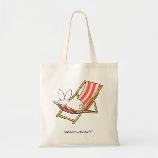 A bunny and a deckchair tote bag