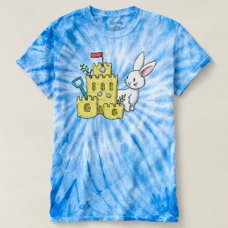 A bunny and a sandcastle t-shirt