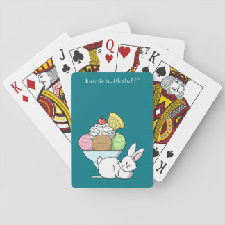 A bunny and an ice cream deck of cards