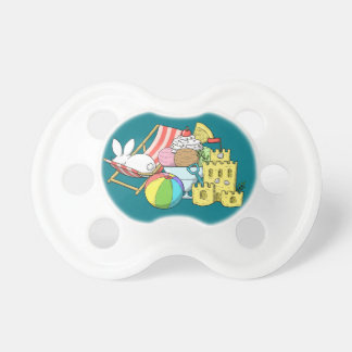 A bunny at the beach pacifier
