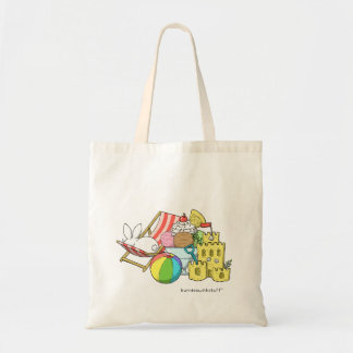 A bunny at the beach tote bag