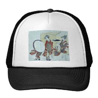 A bunny in front of tea shop by Katsushika,Hokusai Trucker Hat