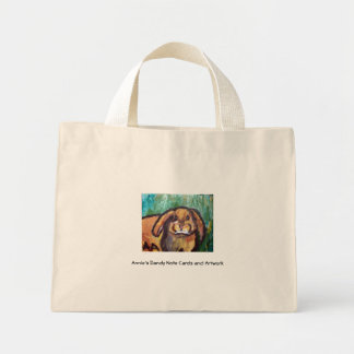 A Bunny Named Royale, Annie's Dandy Note Cards ... Mini Tote Bag