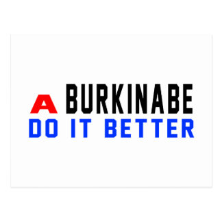 A Burkinabe Do It Better Post Cards