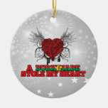 A Burkinabe Stole my Heart Christmas Ornaments