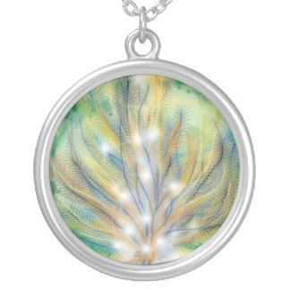 A Burning Bush Silver Plated Necklace