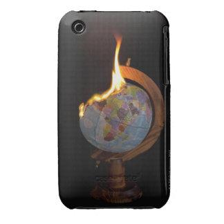A Burning Globe iPhone 3 Case-Mate Cases