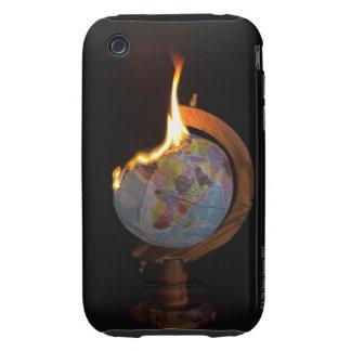 A Burning Globe Tough iPhone 3 Cover