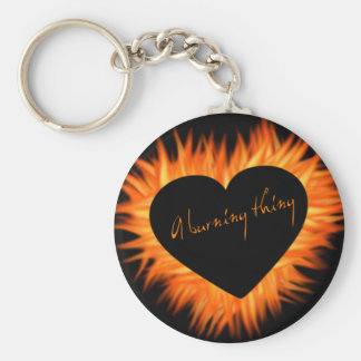 A Burning Thing Fire Heart Keychains