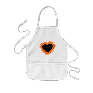 A Burning Thing Fire Heart Kids' Apron