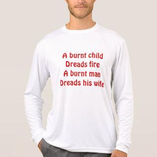 a burnt man tee shirt