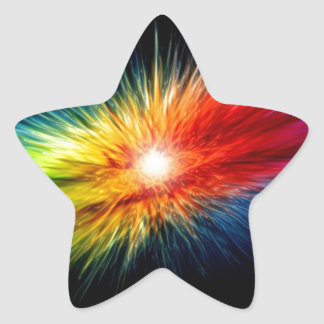 A Burst of Color Streaking Through The Galaxy Star Sticker