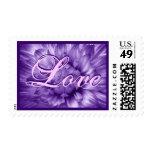 A Burst of Love PURPLE & PINK Flower Wedding Stamp