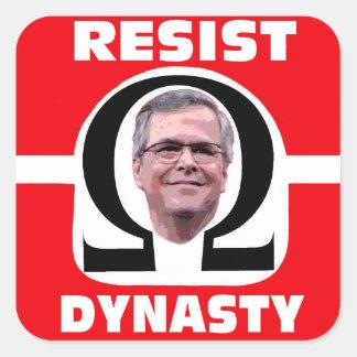 A Bush Never Again Square Sticker