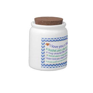 A Bushel and a Peck Jar Candy Jar