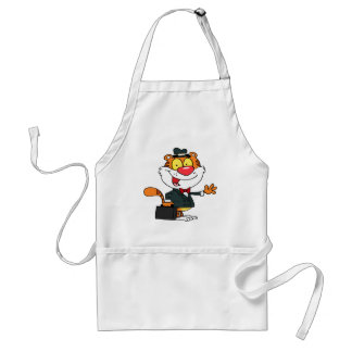A Business Tiger Adult Apron