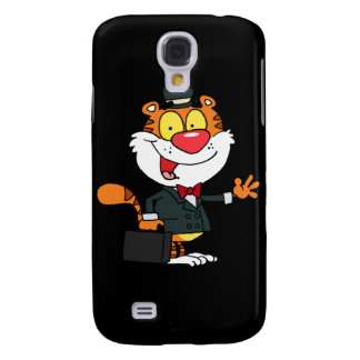 A Business Tiger Waving Galaxy S4 Cover