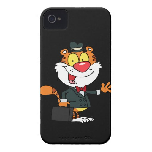 A Business Tiger Waving iPhone 4 Cases