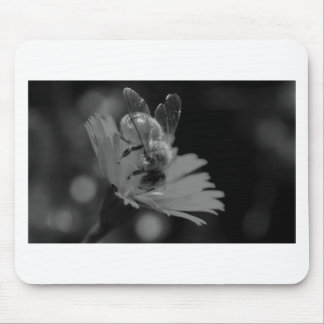 A Busy Bee B&W Mouse Pad