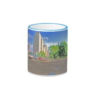 A Busy Chicago Afternoon Ringer Coffee Mug