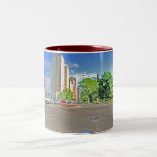 A Busy Chicago Afternoon Two-Tone Coffee Mug
