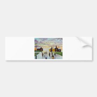 """a busy day ahead"" UK Art Gordon Bruce Bumper Sticker"