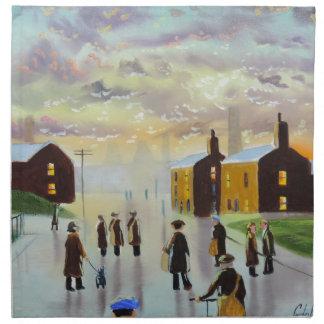 """a busy day ahead"" UK Art Gordon Bruce Cloth Napkin"