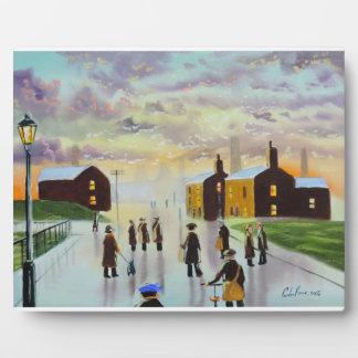 """a busy day ahead"" UK Art Gordon Bruce Plaque"