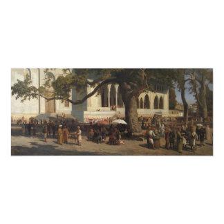 A Busy Market by Karl von Eckenbrecher Card