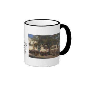 A Busy Market by Karl von Eckenbrecher Ringer Coffee Mug