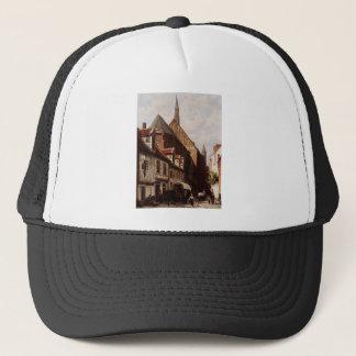 A Busy Street In Bremen With The Saint Johann Trucker Hat