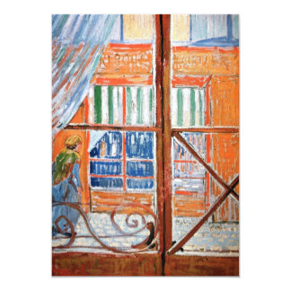 A Butchers Shop Seen from a Window by van Gogh Card
