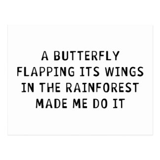 A Butterfly Flapping Postcard