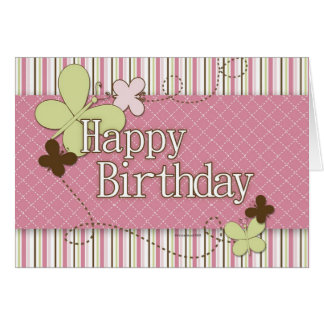 A Butterfly Happy Birthday Card