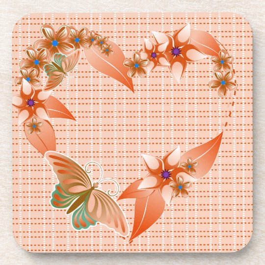 A Butterfly Heart 2 Coaster