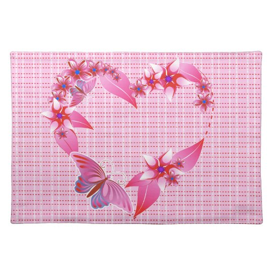 A Butterfly Heart 3 Placemat