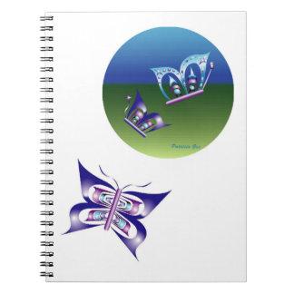 a butterfly moon notebook