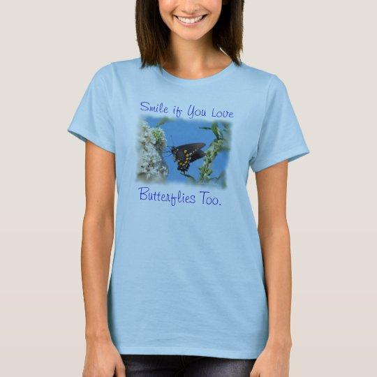 A Butterfly T-Shirt-customize T-Shirt