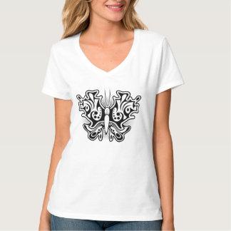 A Butterfly Tattoo Black T-Shirt