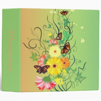 A Butterfly Tree 3 Ring Binder