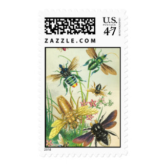 A Buzz of Beautiful Bees Postage Stamps