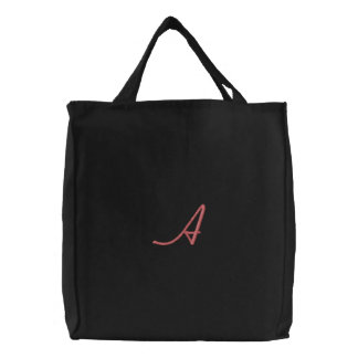 """""""A"""" by: Opal01 Embroidered Tote Bag"""