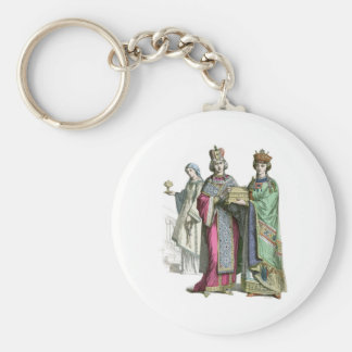 A Byzantine Princess and her ladies Keychain