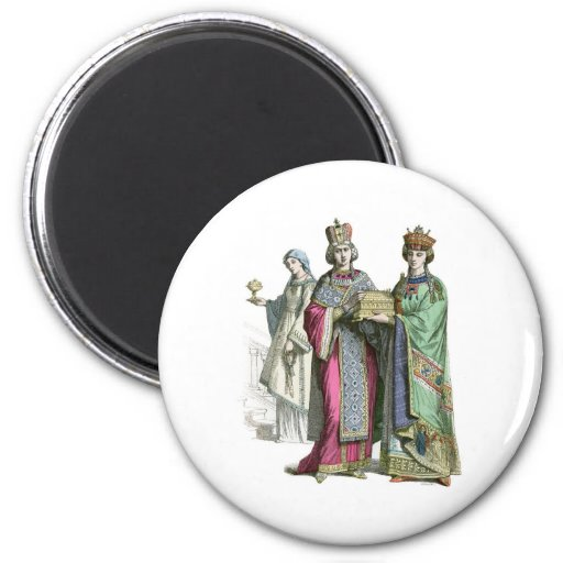 A Byzantine Princess and her ladies Magnet