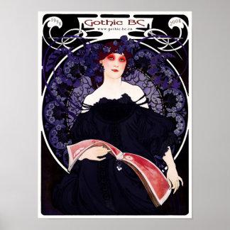 A.C. 10mo poster gótico del aniversario