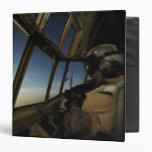 A C-130 Hercules pilot scans the horizon 3 Ring Binder