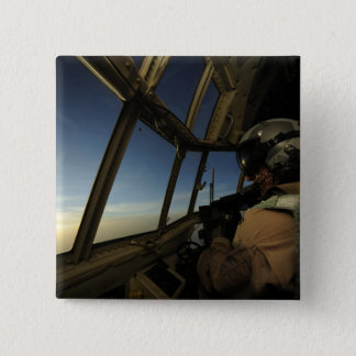 A C-130 Hercules pilot scans the horizon Pinback Button