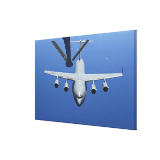 A C-17 Globemaster III approaches the boom Canvas Print