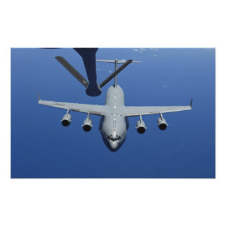 A C-17 Globemaster III approaches the boom Posters