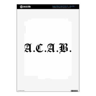 A.C.A.B., Anarchist, Socialist, Black Lives Matter Decals For iPad 3